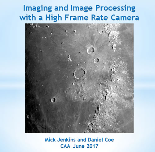 Imaging and Image Processing with a High Frame Rate Camera