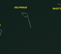 Delphinus, Equuleus and Sagitta outline