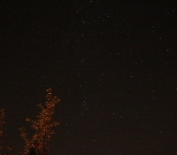 Perseus on a meteor night in 2007