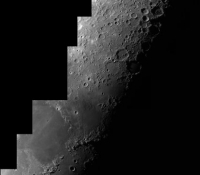 Moon mosaic using 8 inch Altair Astro GSO RC Telescope and DMK21