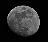 Moon on 80mm refractor using OIII filter