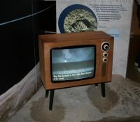 Moon walk footage on TV