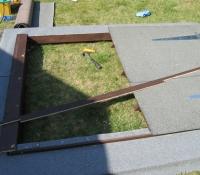 Second door showing edge of roof frame