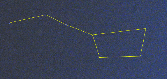 Line Drawing Overlay of Big Dipper
