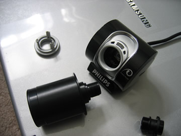 Insert SPC900 Webcam Eyepiece Adaptor