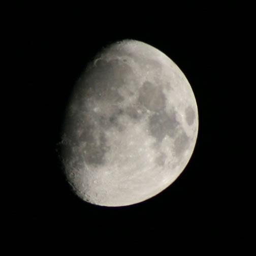 Moon at 300mm at 100% Magnification