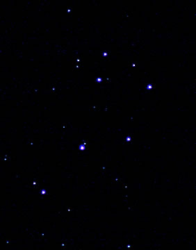 Pleiades on Canon SLR 300mm lens