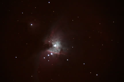 Great Orion Nebula - ISO800 - f/6 Focal Reducer used on 10″ LX200