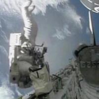 Astronaut loses toolbag