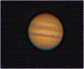 Jupiter via Webcam with 2x Barlow and Diagonal