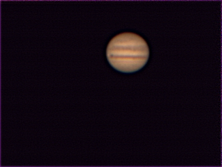 Jupiter via Webcam