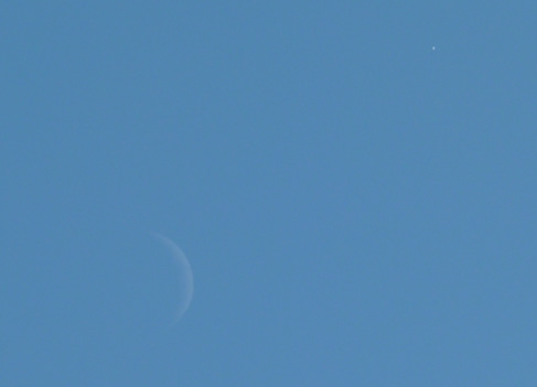 Moon and Venus in Menorca 11th Sept 2010