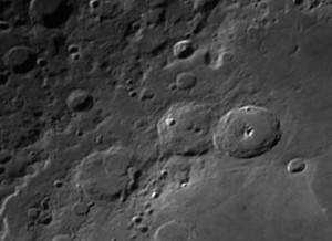 Theophilius and Cyrillus lunar craters