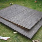 Opening cut out of roof with jigsaw