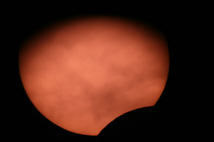 Early Partial Solar Eclipse